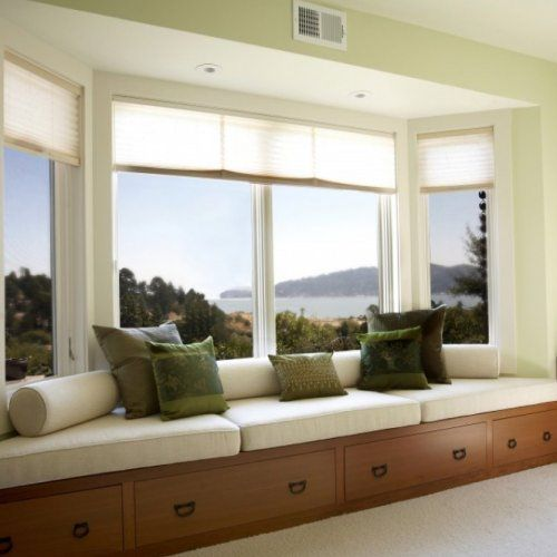 Swapping Windows And Adding Built Ins Possible Living: 17 Best Images About WINDOW SEAT On Pinterest