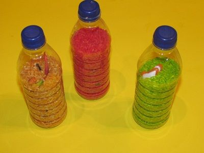 Educational rice bottles...Rice Bottles Endless, Kids Stuff, Colors Rice, Spy Bottle, Bottlesendless Possible, Discovery Bottle, I Spy, Bottles Endless Possible, Rice Bottlesendless