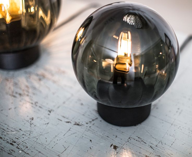 Waldorf table lamp with smoked glass, design by Niclas Hoflin for Rubn