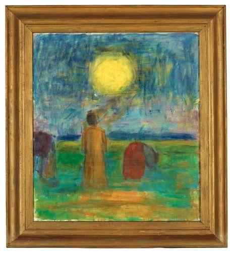 """Carl Kylberg 1878-1952 """"Morgon på fältet"""" (Field at Dawn)."""