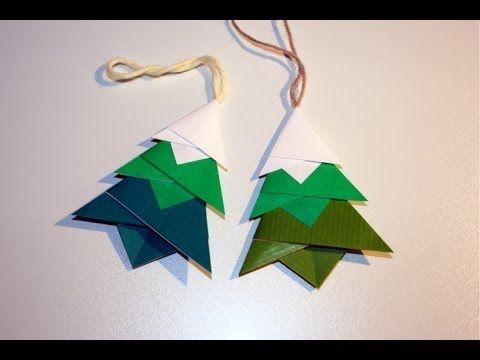 ▶ Origami Christmas decoration - fir Pendant - YouTube