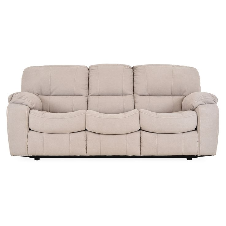 Mobexpert canapea extensibila, 3 locuri, stofa bej Benson