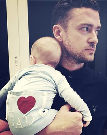 """Justin Timberlake's Son Silas Wears """"I Love Dad"""" Top on Father's Day - Us Weekly"""