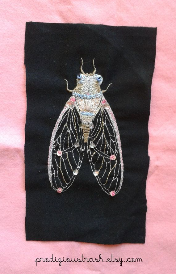 A bug in the system!   Hey! This new patch features a beautiful opal pink cicada design and has all kinds of pastel colours in it, as well as