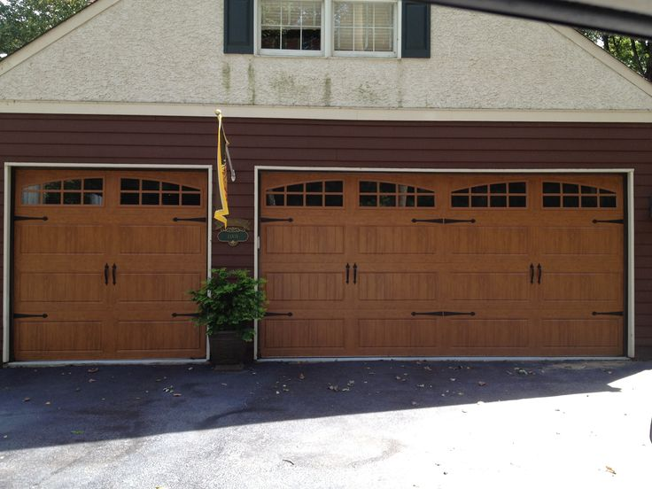 13 best jv garage door installs images on pinterest for Clopay gallery ultra grain walnut