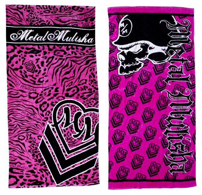 Metal Mulisha Towels Pink Leopard Print Beach River Essential