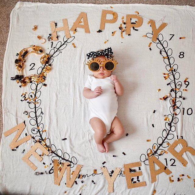 First New Years New Mom Ideas Being A New Mom New Mom List New Mom Essentials Milestone Blanket A Happy New Year Baby Baby New Year Monthly Baby Pictures