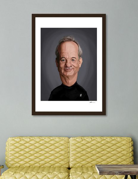 Discover «Bill Murray», Numbered Edition Fine Art Print by rob art | illustration - art | decor | wall art | inspiration | caricature | home decor | idea | humor | gifts