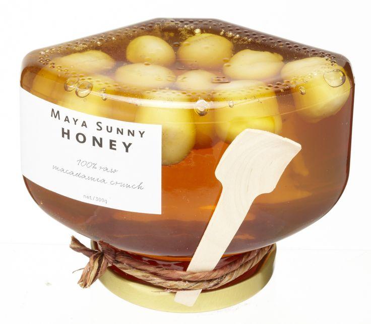 Maya Sunny Honey Raw Bottle Brush Honey with Raw Macadamia Nuts ...