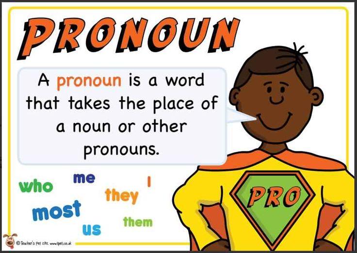 Pronoun. Superhero themed grammar resource for Literacy KS1 and KS2
