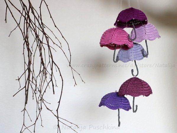 Regenschirm Häkelanleitung