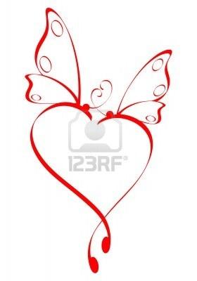 butterfly  heart - Google Search