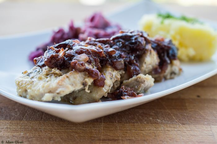 Pork tenderloin with plum sauce