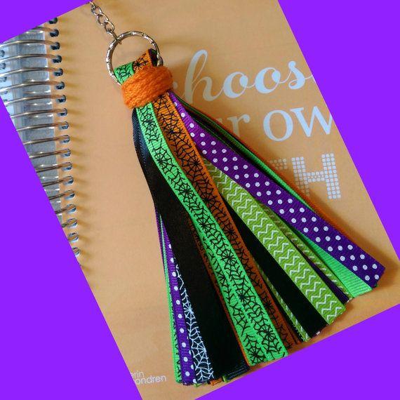 Halloween Planner Ribbon Tassel/Keychain