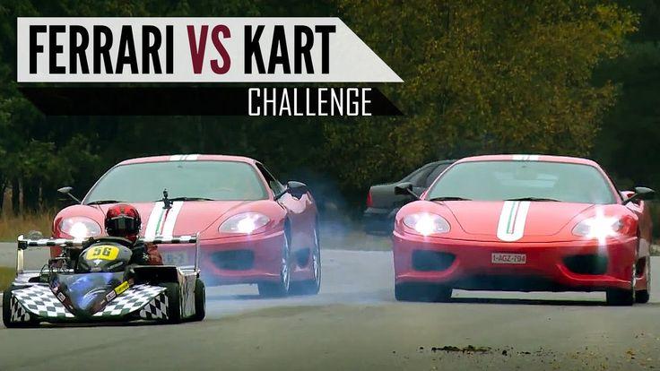 FERRARI vs GO KART - Chase - Battle in top gear - Challenge Stradale   V...