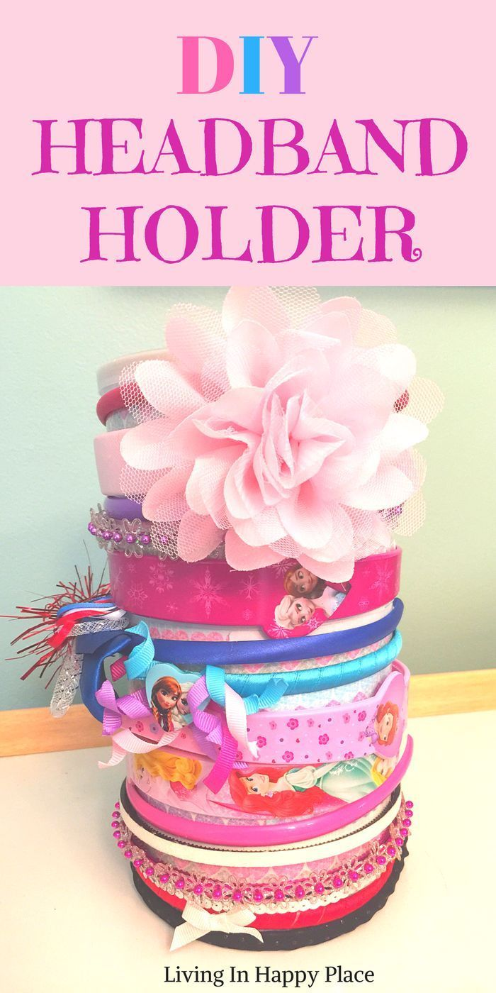 Diy Headband Holder Or Organizer For Baby Girl Or Women Easy Tutorial On How To Make A Headband Hold Diy Headband Holder Baby Headband Holders Baby Girl Diy