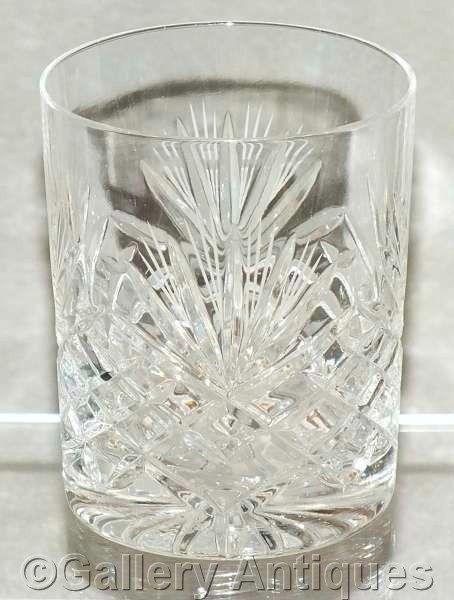 "Vintage Zawiercie (Poland) Majestic Pattern Polish 24% Lead Crystal Cut Glass 3 5/8"" Tall Whisky Tumbler c.1970's (ref: 4062)"