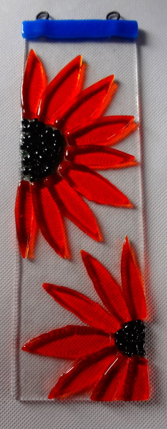 Hey, I found this really awesome Etsy listing at https://www.etsy.com/listing/200117472/orange-transparent-fused-glass-flower