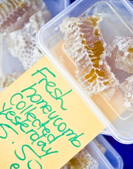 Fresh Honeycomb • Willunga farmers markets • Adelaide's markets • Adelaide sights and highlights