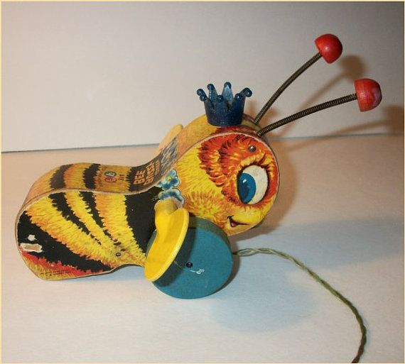Rare VINTAGE 1956 BEE TOY  Fisher Price Queen by vintagewarehouse... my brother had one of these! ;)