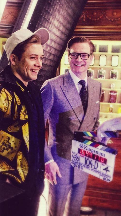 Colin Firth & Taron Egerton From Kingsman: The Secret Service