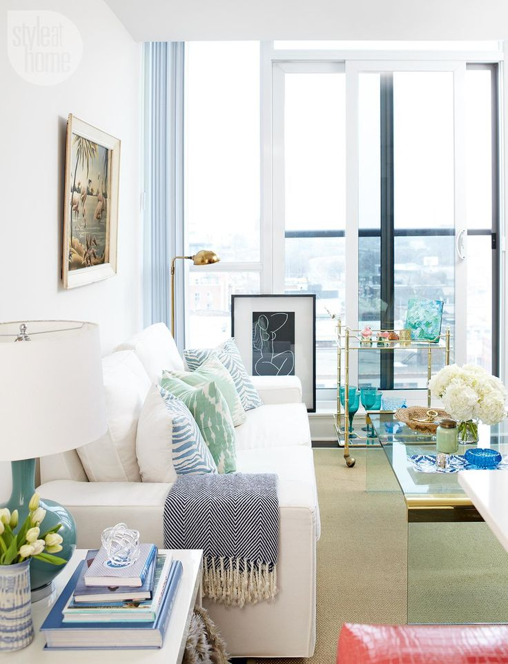 A 500-square-foot condo in the city is transformed into a stylish,