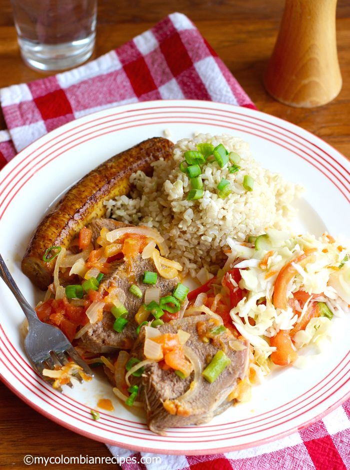 Lengua en Salsa Criolla (Colombian-Style Tongue with Creole Sauce)