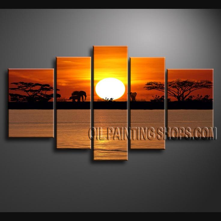 48 best landscape paintings - africa scene images on pinterest
