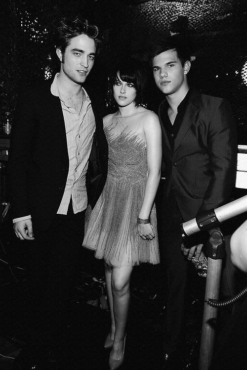 Robert Pattinson, Kristen Stewart, and Taylor Lautner......