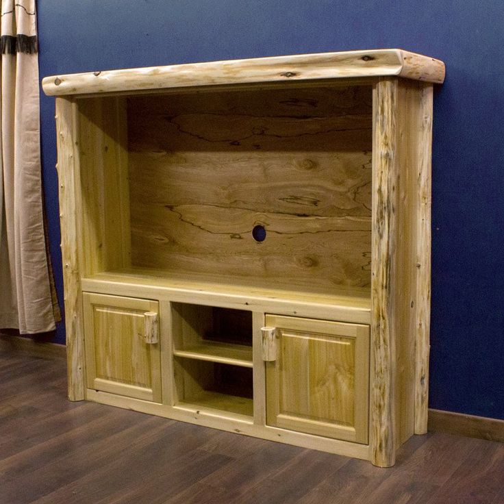 Cedar Lake Lauries Rustic Entertainment Center Log