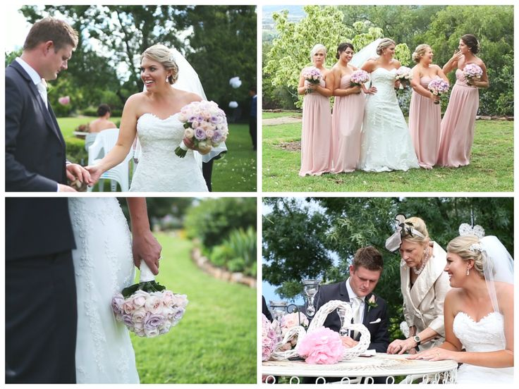 Brooke looking stunning in her dress at her & Dave's fantastic garden wedding. Lace all around!!