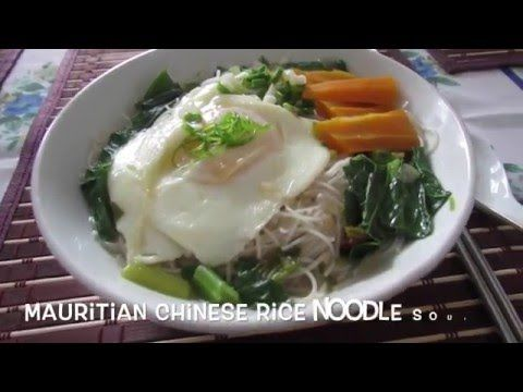 Mauritian Chinese Rice Noodles Soup (Meefoon)