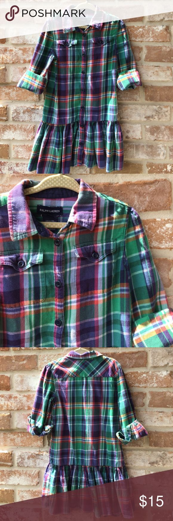 Plaid Polo RALPH Lauren dress Plaid Polo Ralph Lauren dress Ralph Lauren Dresses Casual