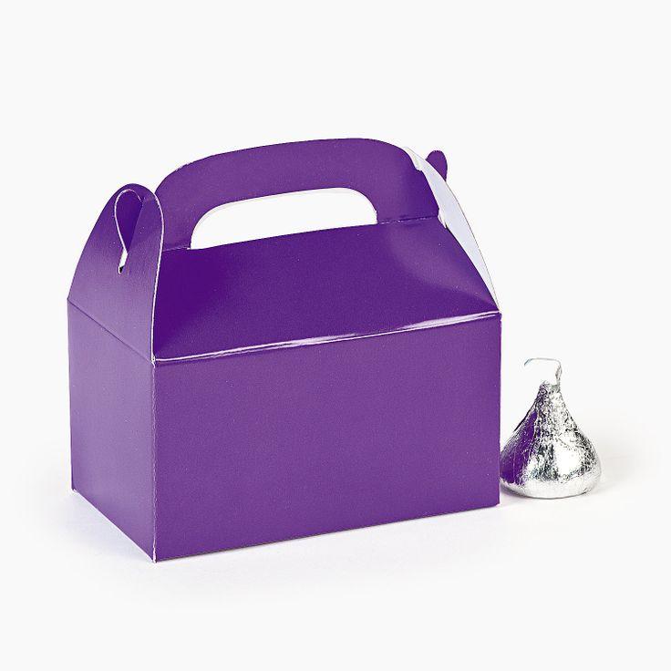 Mini Purple Treat Boxes - OrientalTrading.com