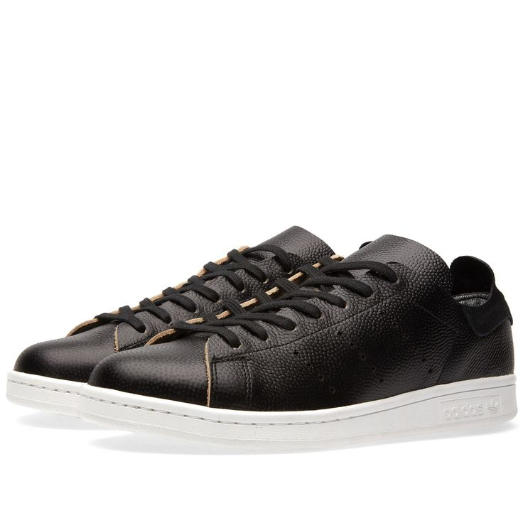 Best Drop Shipping Adidas Stan Smith Low Couple Skateboard shoes Black white[S85714]