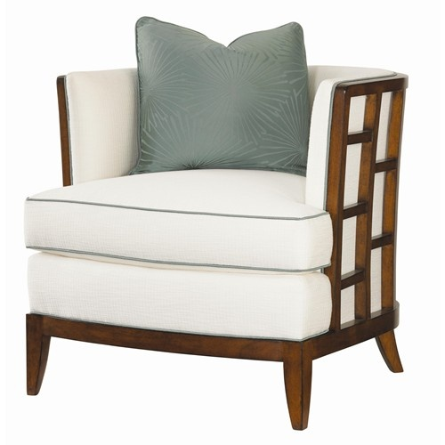 Ocean Club Exposed Grid Pattern Wood Abaco Chair by Tommy Bahama Home - Baer's Furniture - Exposed Wood Chair Miami, Ft. Lauderdale, Orlando, Sarasota, Naples, Ft. Myers, Florida