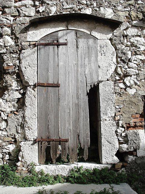 "Campochiaro (Campobasso). Molise, Italy ""Porta con visiera"" by archifra-francesco de vincenzi, via Flickr"