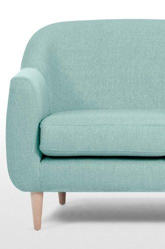 The Tubby 2 Seater Sofa in Turquoise Blue. A stylish, versatile addition to a smaller space. £319   MADE.COM