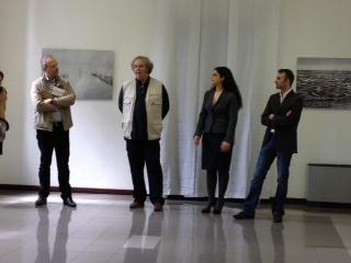 Da sinistra Claudio Argentero , Franco Donaggio , Loredana De Pace , Luigi Pasetto protagonisti dell'edizione 2013 del Festival della fotografia digitale fine art realizzato da Afi in collaborazione con Epson
