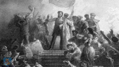"""""""În istoria românismului, Avram Iancu, eroul revoluţiei ardelene de la 1848, reprezintă un moment din care putem desprinde două semnificaţii deosebite. Una e o semnificaţie locală, provincială, întrucât revoluţia dezlănţuită de el priveşte soarta fraţilor transilvăneni, în condiţii politice speciale, de fragment etnic gemând sub apăsarea unui neam străin. A doua e semnificaţia naţională, întrucât ..."""