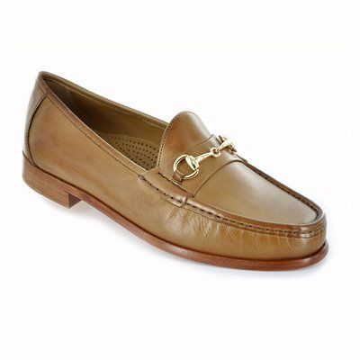 Cole Haan classic horse bit loafer for men. Features soft, calfskin uppers,  full