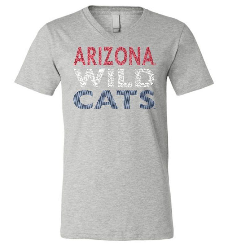 NCAA University of Arizona Wildcats U of A - Unisex V-Neck T-Shirt - UOFA1225-d