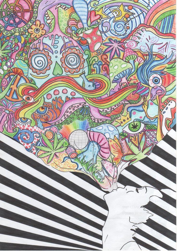 how to draw hippie art