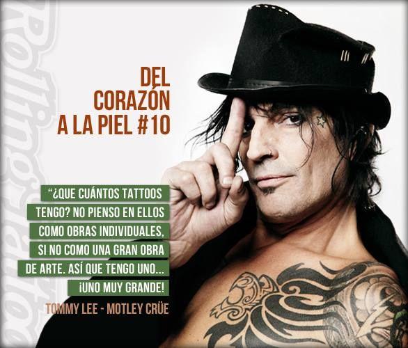 Del Corazón a la Piel #10 | Tomy Lee - Motley Crüe / Methods of Mayhem | Diseñado por Rolling Tattoo Studio. | #TomyLee #Tattoos