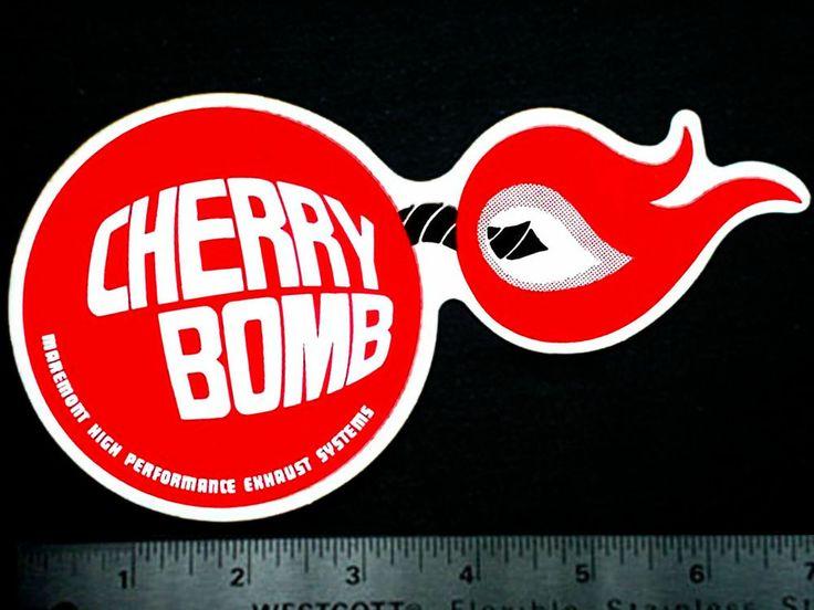 Cherry bomb original vintage 1960s 70s racing decal sticker