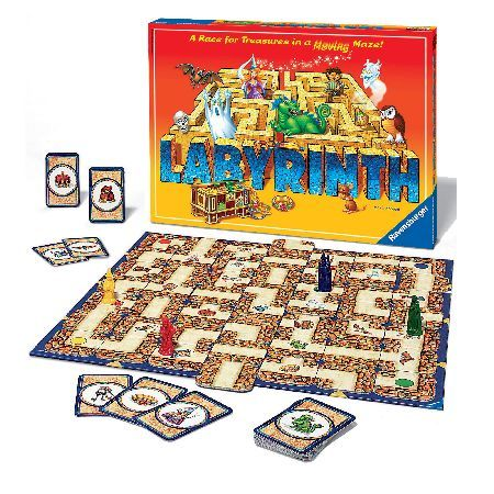 Ravensburger Labyrinth Ravensburger Labyrinth is the race for treasures in a moving maze. Be the first to collect all your treasures by shifting the walls of the labyrinth to create a clear path. Players take turns to searc http://www.MightGet.com/may-2017-1/ravensburger-labyrinth.asp