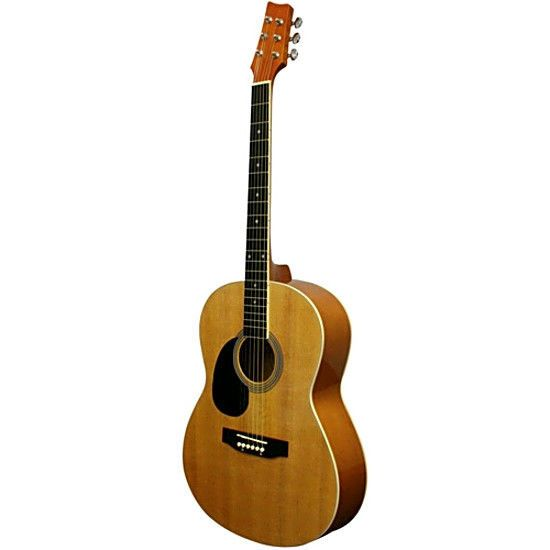 Left-Handed Guitar Parlor-Size Acoustic Guitar includes polishing cloth truss