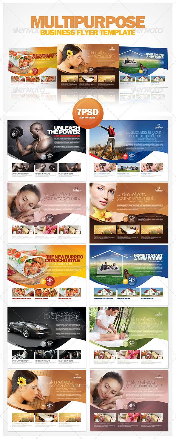 141 best fonts flyers more images on pinterest business card multipurpose business flyer template wajeb Image collections