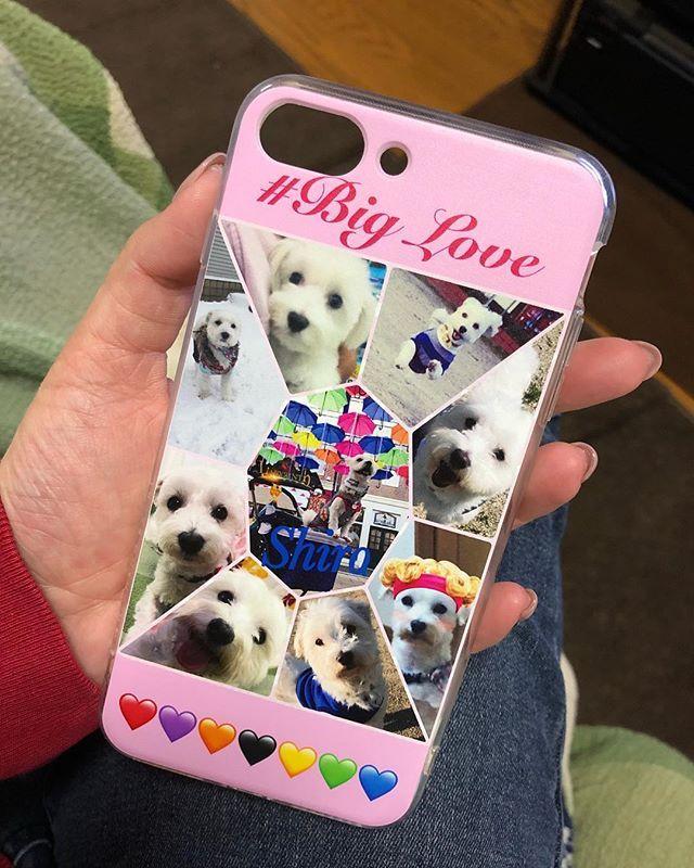 #プリスマ  から届きました🐶💗 iPhone8plus で欲しいケースがなく クリアケースを付けてたのですが、 この際、シロので自分でデザインして 作っちゃえと🤭💓 届くのも早かったし 画像もとても綺麗でお気に入りです🤗❤️ #マルチーズのシロ#マルチーズ#🐶#愛犬#dog#Maltese#マルチーズ部#お出かけ大好き #🚗#photo#followplease#biglove #mydog #myfamily#👫🐶#オリジナルiPhoneケース