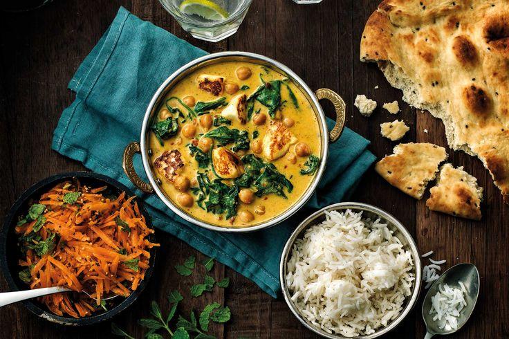 Helppo ja nopea kermainen ja maukas intialainen kasviscurry. Tarjoile naanleivän ja mango chutneyn kanssa.